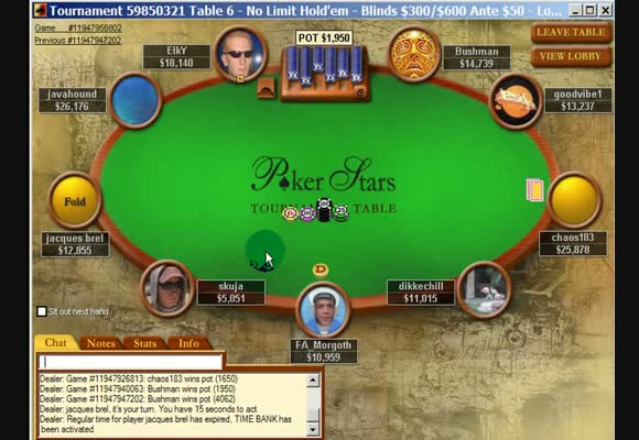 MTT $1000 - Final Tables II
