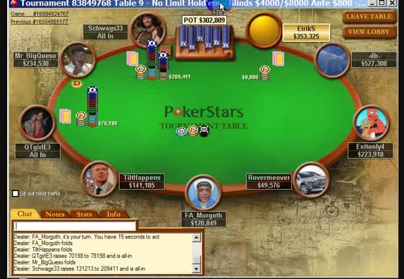 MTT $109 Rebuy - Final Table