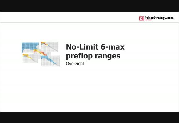No-Limit 6-max Preflop Ranges