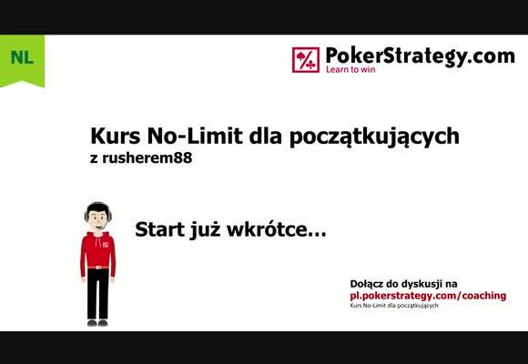 Kurs No-Limit dla początkujących - zastosowanie strategii w praktyce