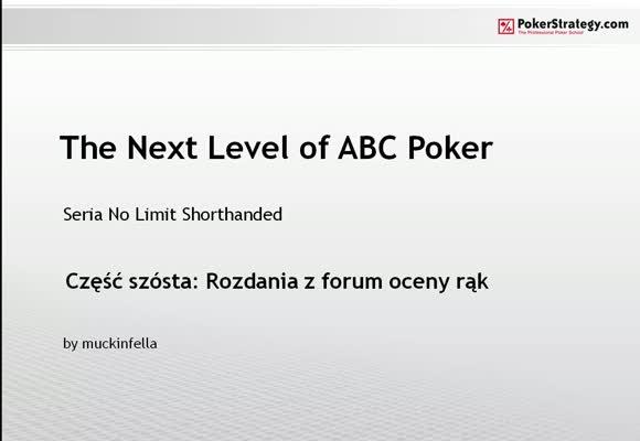 The Next Level of ABC Poker - rozdania użytkowników