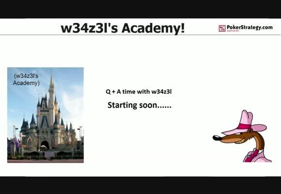 Q&A with w34z3l