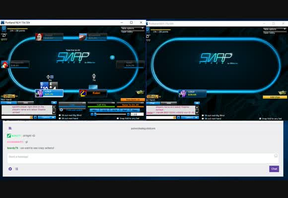 Two Table NL30 Snap Poker Grind Live