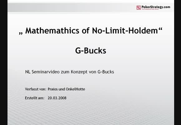 Seminar: G-Bucks