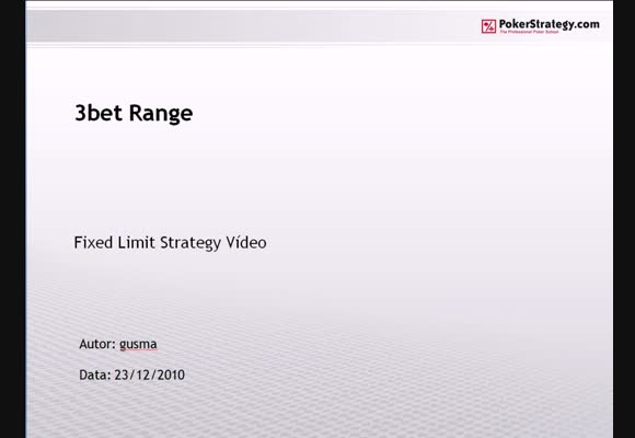FL $0,10/$0,25 - FR - 3bet Range