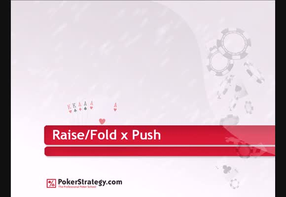 SNG Raise/fold vs PUSH