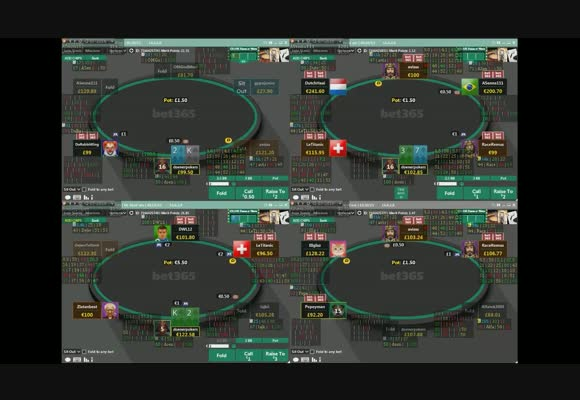 Разбор сессии NL $100 SH на bet365 - Встречаем DeanD