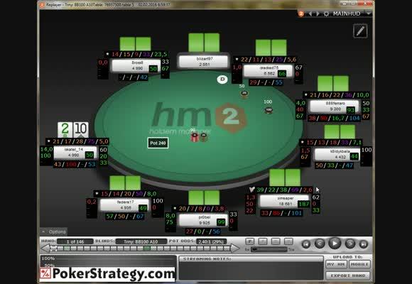 Разбор МТТ $22 на 888poker