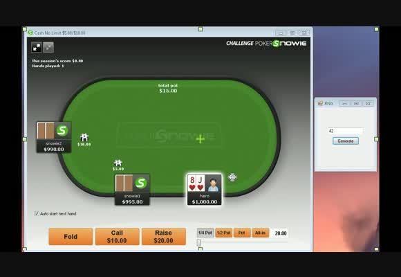Сессия 3-handed против PokerSnowie