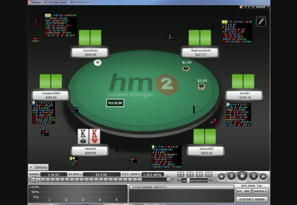 Разбор сессии NL $200 в реплеере HM2