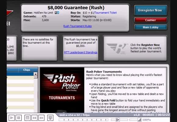 MTT $11, Rush Poker, часть I