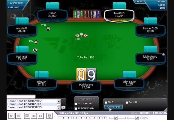 MTT $11, Rush Poker, часть II