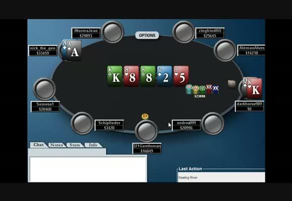 MTT $11+R FR, середина турнира, часть 2