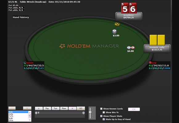 Перевод No-Limit $600/1000/5000 Heads Up, Insyder19 vs. dapapst, часть IV