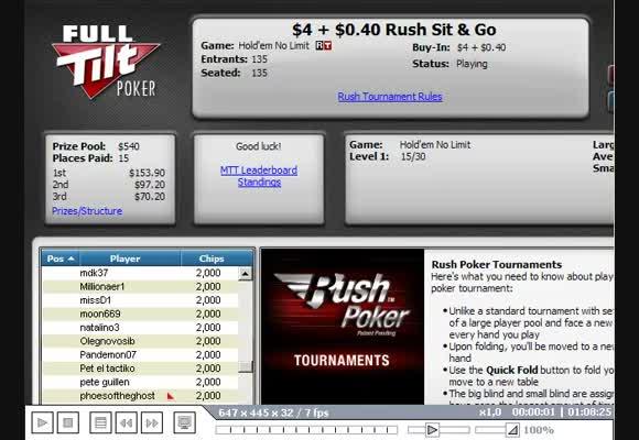 Multitable SNG $4,4 Rush, часть I