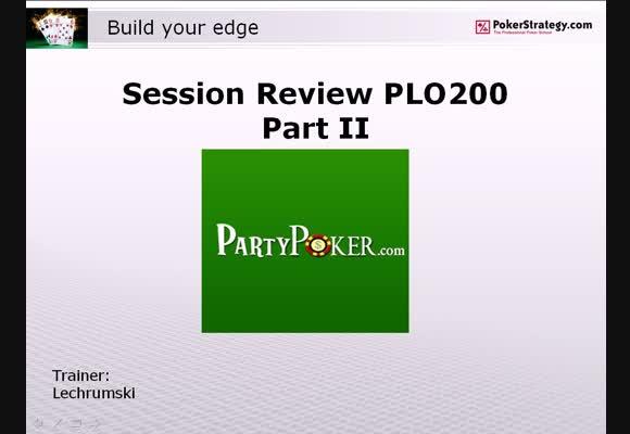 Перевод PLO $200 SH, Building Your Edge - Анализ сессии, продолжение, часть 10