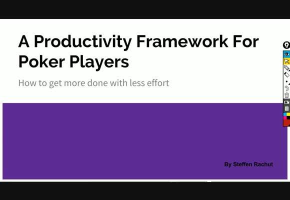 Основы продуктивности для покерных игроков