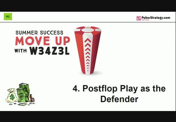 Поднимаемся на следующий лимит с w34z3l - Игра на постфлопе после защиты на префлопе, часть 4
