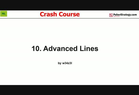 Крэш-курс от w34z3l - Продвинутые линии, часть 10