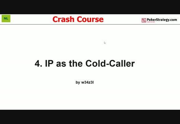 Крэш-курс от w34z3l - Игра как колд-коллер в позиции, часть 4