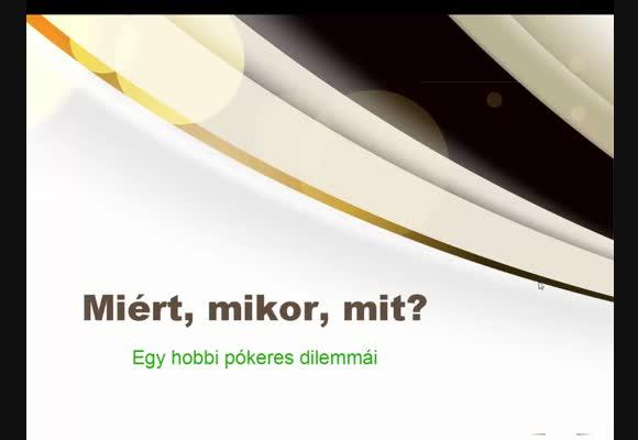 Videóverseny 2015 - Egy hobbipókeres dilemmái - potyka007