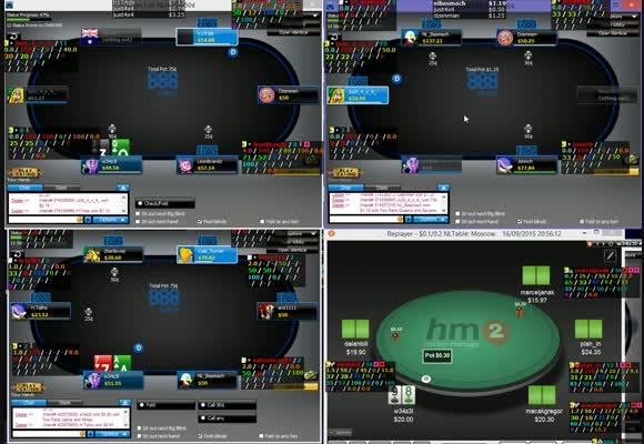 Crush NL50 on 888poker with w34z3l