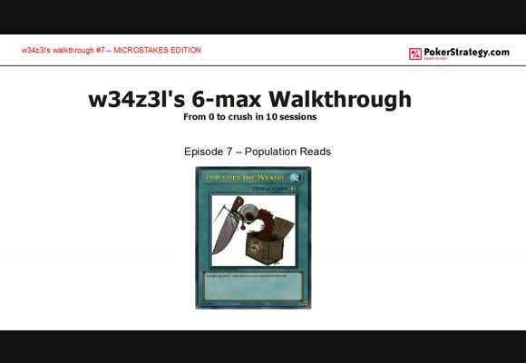 W34z3l's Walkthrough - Population reads