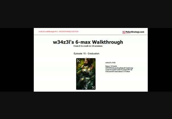 W34z3l's Walkthrough Graduation -  Live Zoom Session