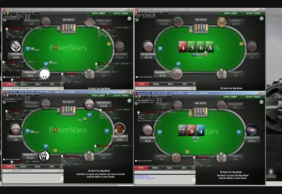 Gra live na NL10 na PokerStars